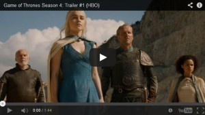 bande annonce game of thrones saison 4