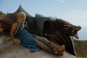 game of thrones Dany Dragons