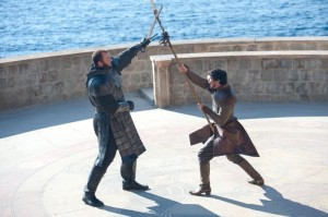 game of thrones duel 4x08 Montagne contre vipere Oberyn