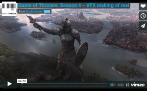 game of thrones effets speciaux saison 4