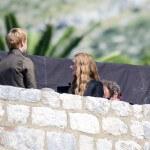 tournage port réal Cersei et Tommen
