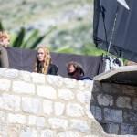 tournage port réal Cersei et Tommen 2