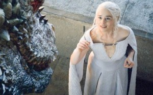 Dany et dragon game of thrones saison 5