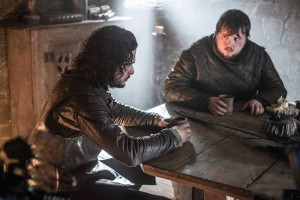 Game of thrones 5x10 season finale  jon et Sam