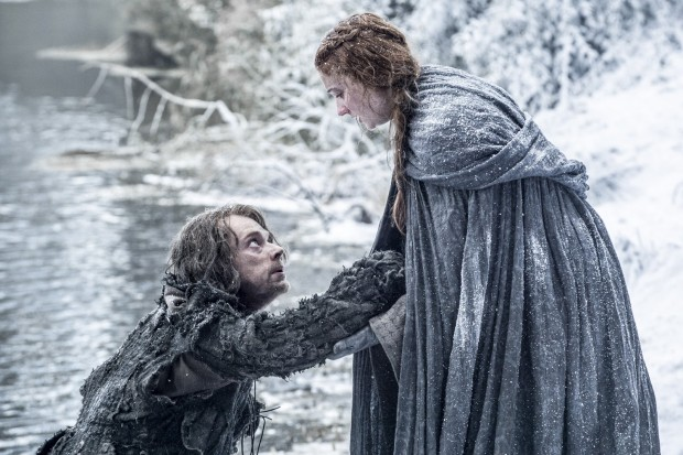game of thrones saison 6 Sansa et Theon