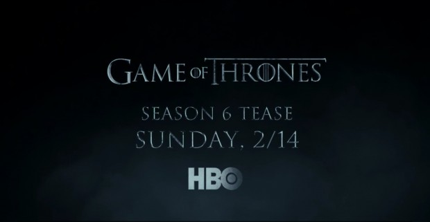 Le teaser du teaser de la saison 6 de Game of Thrones