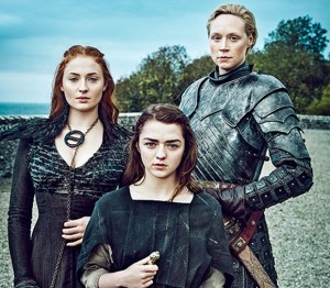 Sansa-Stark-Arya-Stark-Brienne-game of thrones saison 6 got 620
