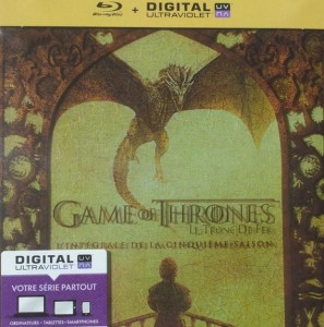 blu-ray game of thrones saison 5 jaquette UV