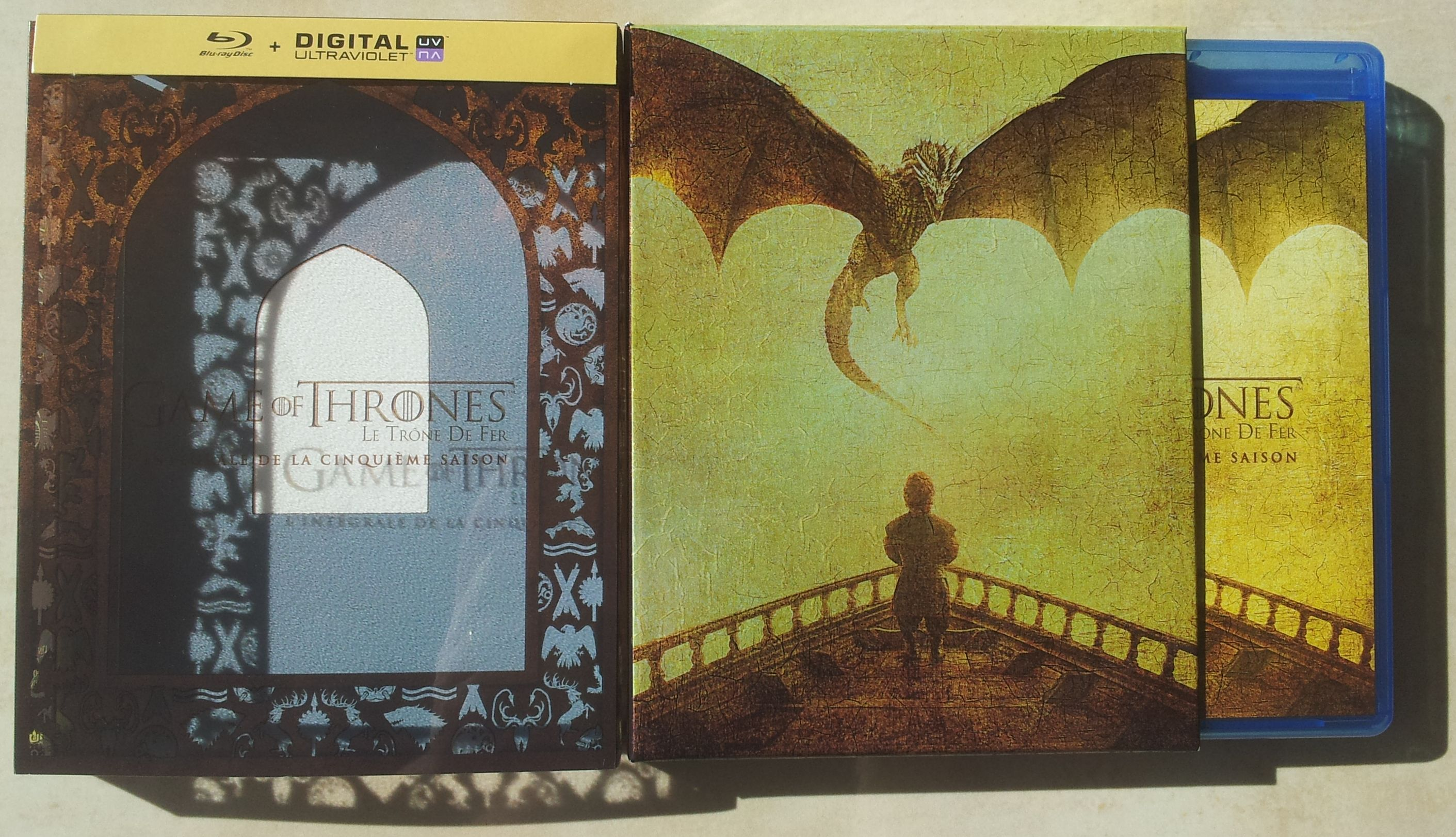 blu-ray game of thrones saison 5 packaging