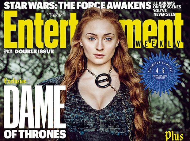 cover game of thrones EW Sansa sophie turner