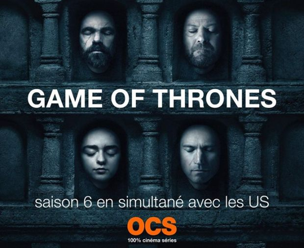 La saison 6 de Game of Thrones sera diffusée en France en même temps qu'aux USA
