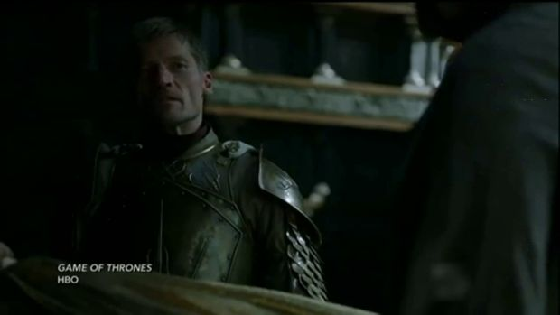 game of thrones 6x01 Jaime Lannister versus grand moineau