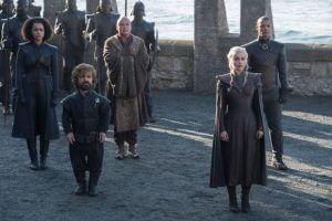 game of thrones saison 7 Missandei, Tyrion Lannister, Varys, Daenerys Targaryen, Grey Worm