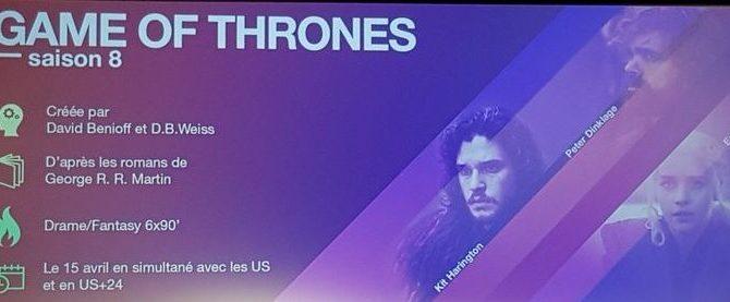 Des épisodes de la saison 8 de Game of Thrones de 90 minutes ?