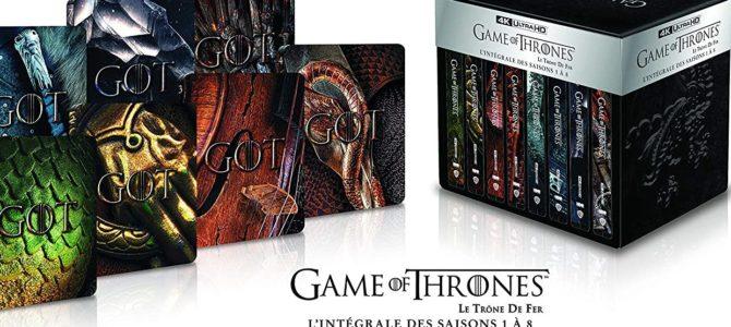 Superbe coffret intégrale des Saisons 1 à 8 de Game of Thrones en 4K Ultra HD